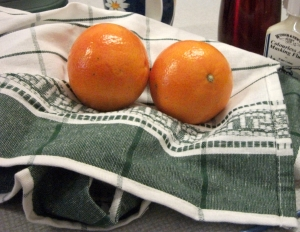 Oranges & Tea Towel